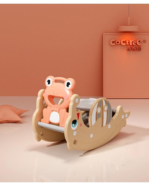Горка + качалка Дельфин PS-037-O оранжевый