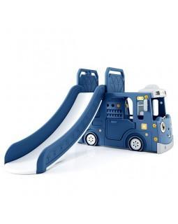 Горка + игровая зона Автомобиль PS-049-B синий