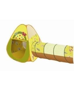 домик игровой с туннелем+ 100 шариков