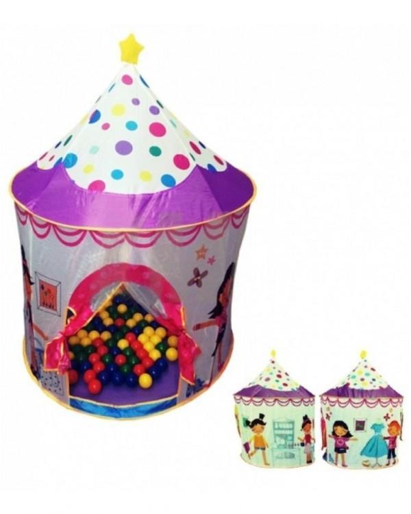 Домик игровой Замок + 100 шариков