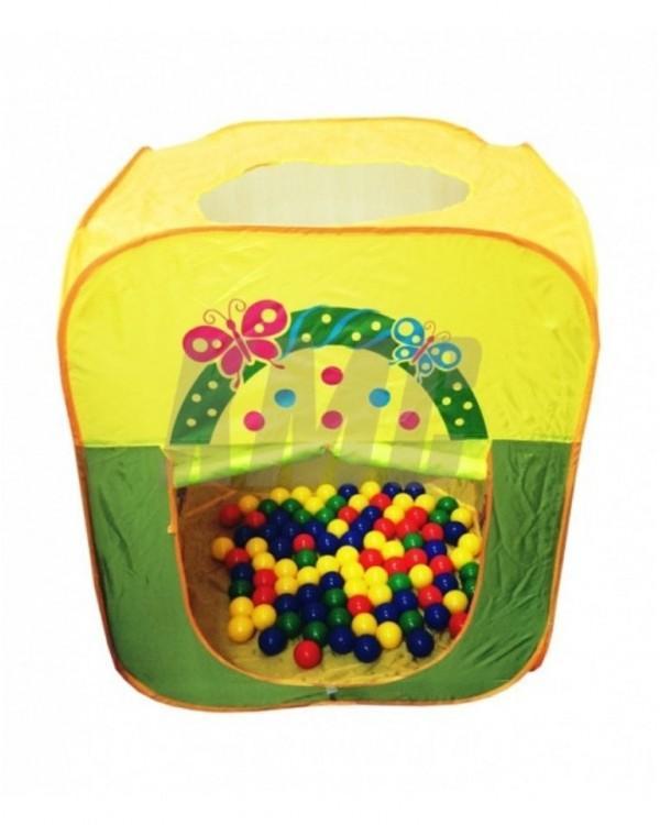 Игровой домик Квадратный+ 100 шариков