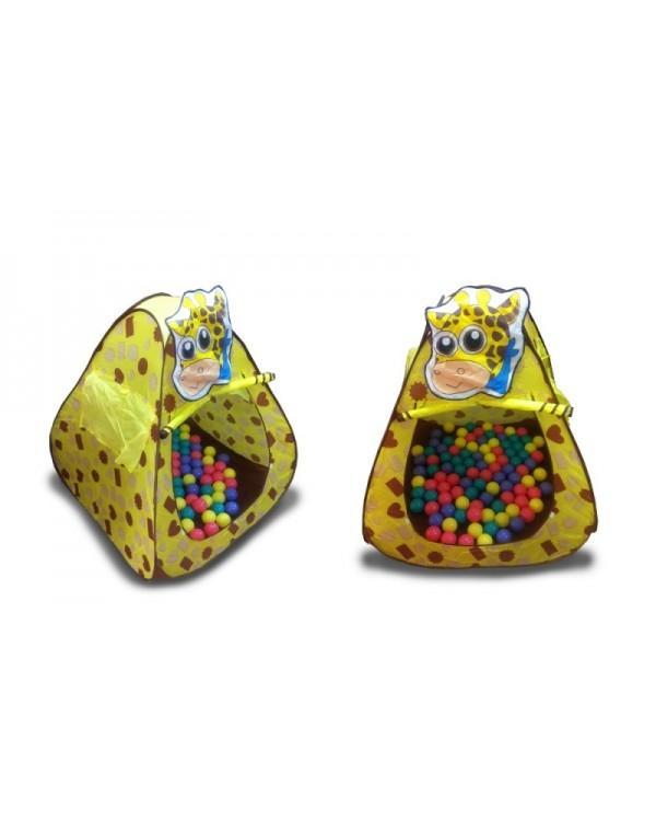 Домик игровой Жираф + 100 шариков
