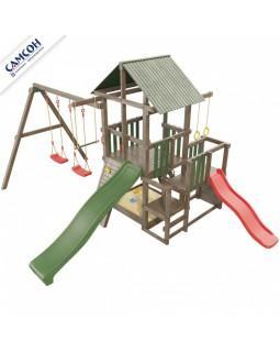 Детская площадка Сибирика с 2-мя горками